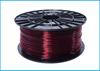 Obrázok ABS-T tlačová struna 1,75 - vlákno transparentná červená 1 kg